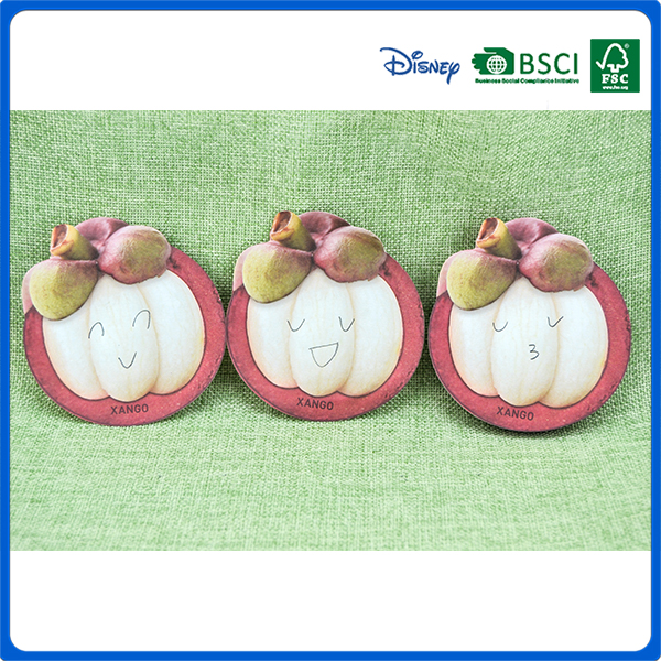 Promotional Mangosteen fruit shaped sticky notepad for kids