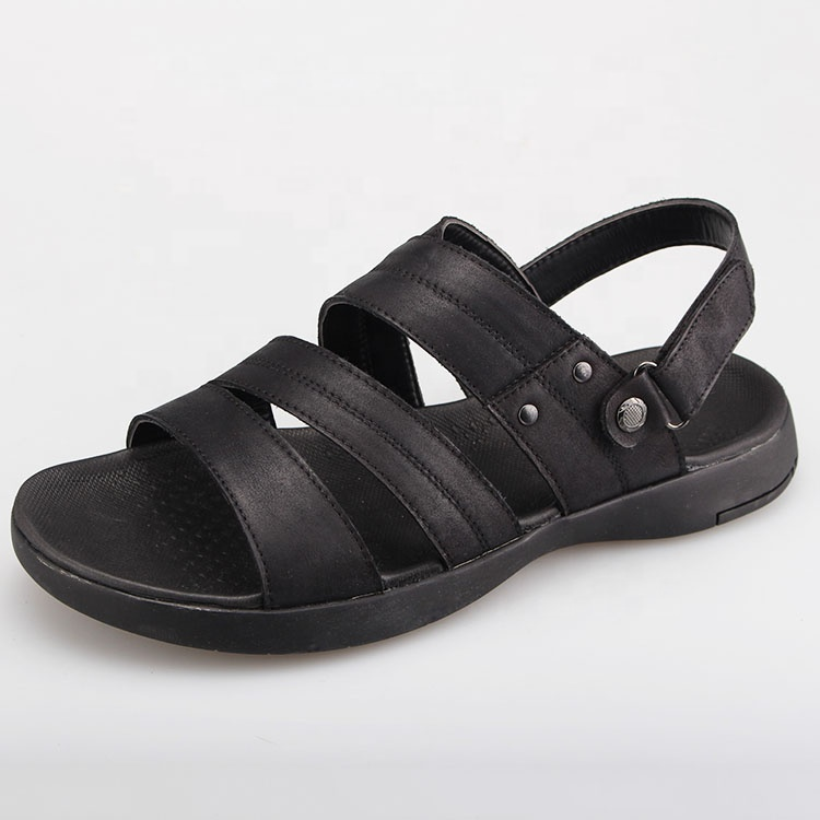 Hot sell comfortable sports leather\pu men sandals for outdoors