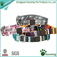 Pets accessories wholesale nylon dog collar with pattern designed by Runwing Pet