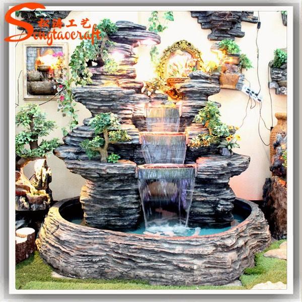 guangzhou artificielle en fiber de verre moderne rocher cascade fontaines avec pompe jardin. Black Bedroom Furniture Sets. Home Design Ideas