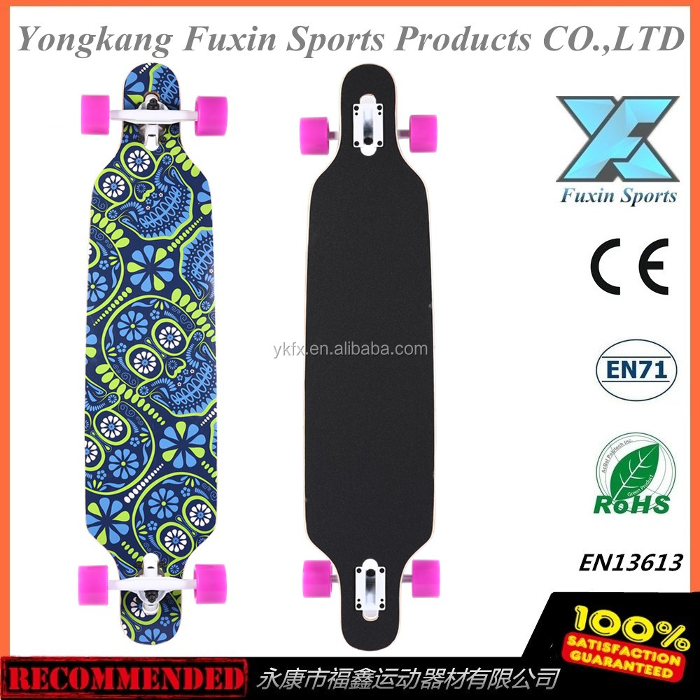 "2016 hot sale Komplett 106 CM 42X9.25"" freeride Board ABEC 11 Long board Skate board"