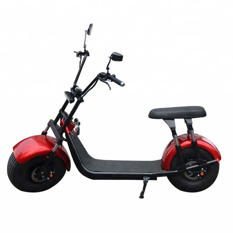 2018 hot selling customized 1500w/2000w electric mobility scooter citycoco scooter with 21.8ah removable battery, Black