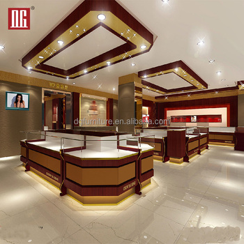 Modern Retail Interior Jewellery Showroom Designs