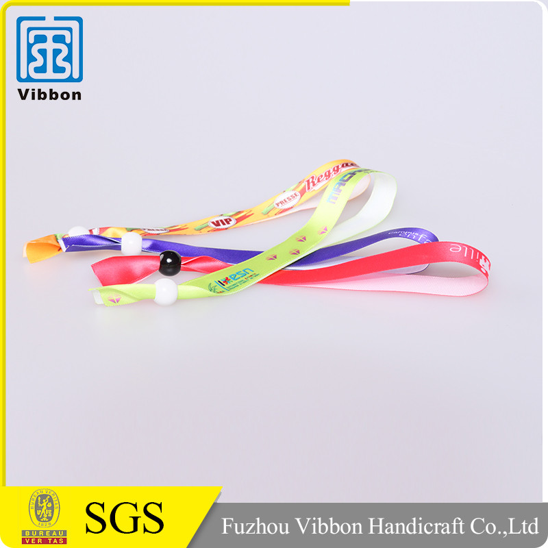Custom Ribbon Satin Wristband For Event In China Manufacture