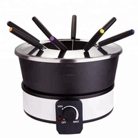 Mini electric wok and fondue cheese chocolate hot pot set