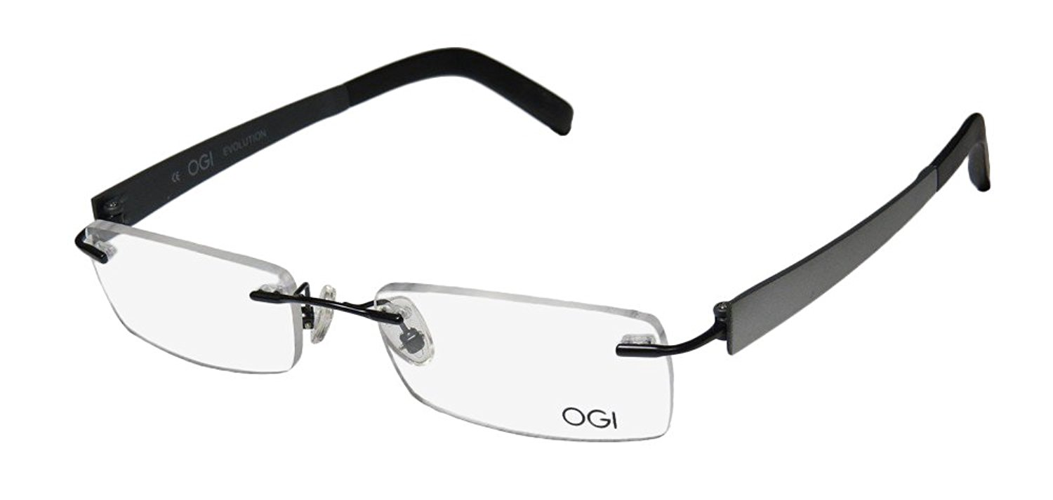 585e8fc1c5 Get Quotations · Ogi 613 Mens Womens Designer Rimless Eyeglasses Spectacles
