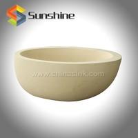 Smooth White Limestone Freestanding Marble Bath Tub