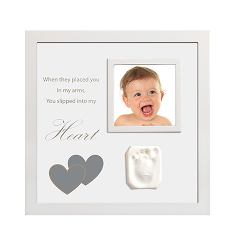 New Style Hot Sale Baby Footprint Photo Frame Girls And Boys Baby Photo Album For Home Decor