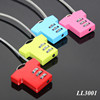 T-shirt Shaped Resettable 3 Digit Travel Luggage Suitcase Alloy Padlock Steel Wire Changeable Combination Lock