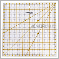 Kearing factory direct sale 16cm Metric Acrylic Quilting Ruler Patchwork Design Template / Square Quilting Ruler # KPR1616