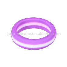 Food Grade Engraved Silicone Wedding Ring for Women and Bride