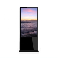 32 inch floor standing slim digital signage network Android CMS digital signage