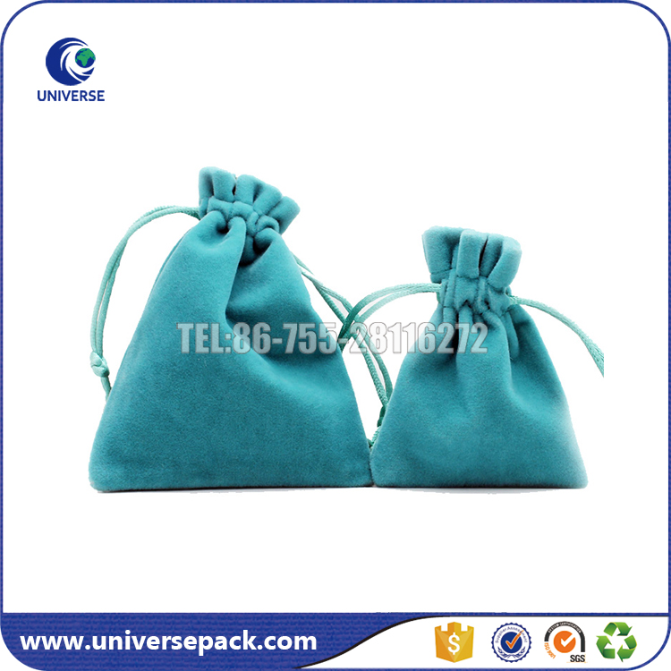 Custom Design Soft Drawstring Velvet Pouch Bag For Jewelry