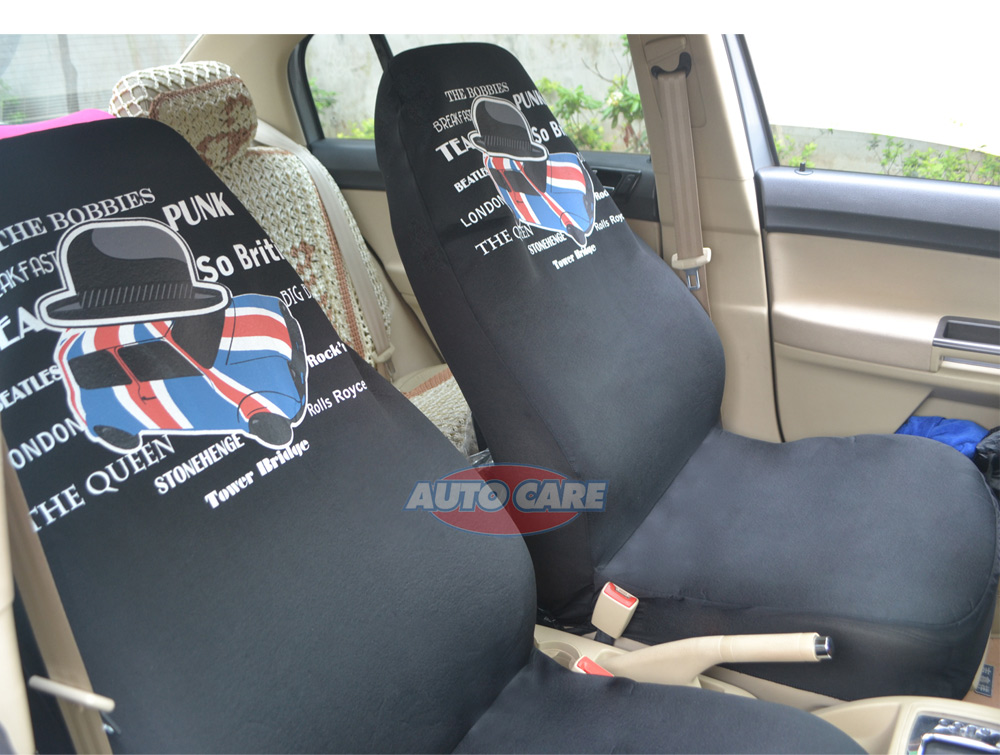 AutoCare 2pcs Sports Style High Back Bucket Car Seat Cover Universal Fit for Lada Honda Toyota Car Seat Covers