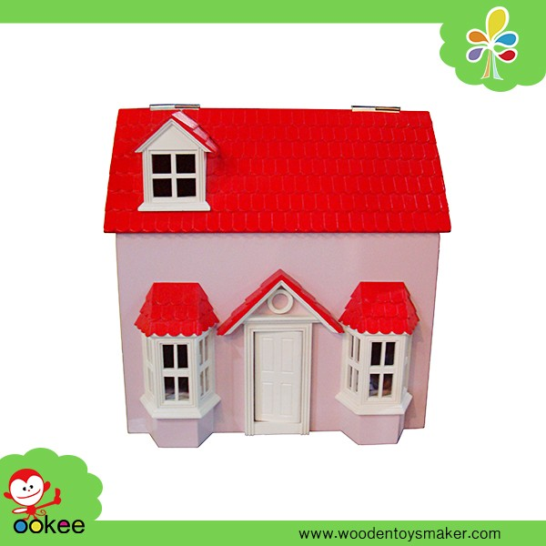 2016 cheap wood house happy family house model toy diy miniature house