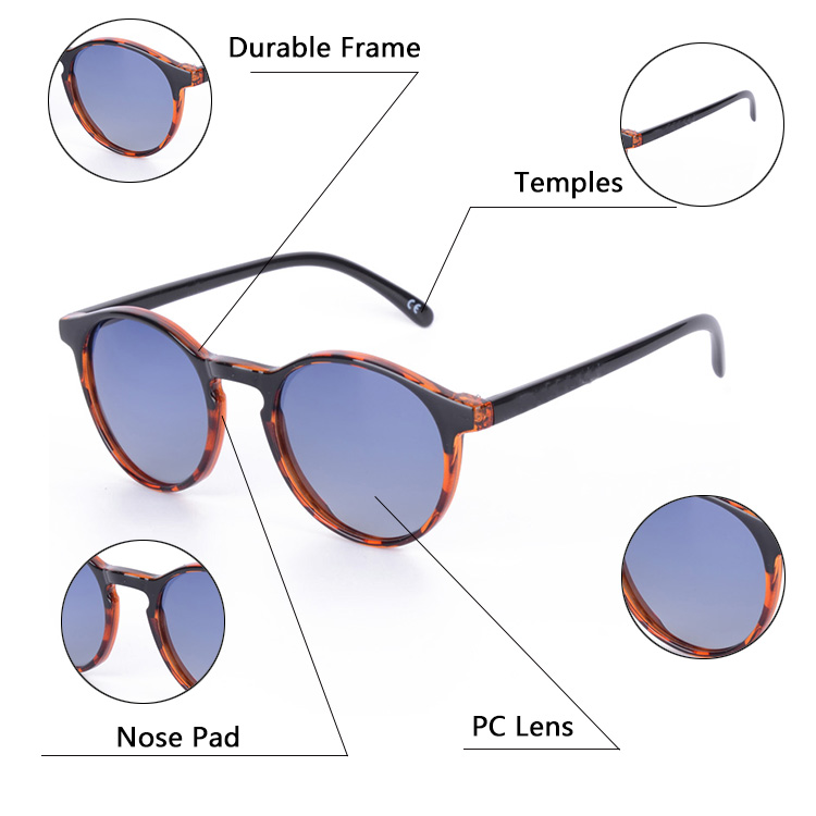 57e9a5bfe4 Best Vintage Men Women Round Polarized Custom Brand Sunglasses - Buy ...