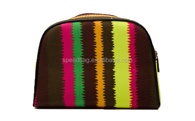 fashion South Korean velvet striped makeup bag women clutch bag