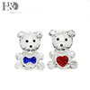 H&D X'mas Gift 2pcs Crystal Cute Bear Figurines Paperweight Crafts Art&Collection Table Car Ornament Souvenir Home Wedding Decor