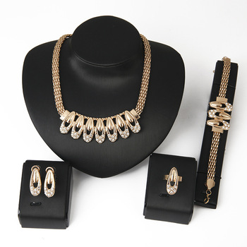 Wholesale African Bridal Gold Costume Jewelry Set Cheap Jewelries
