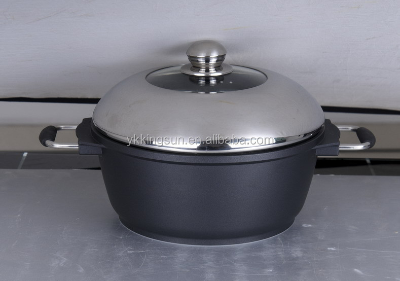 FDA and SFG approved hard anodised grill pan and sauce pan set