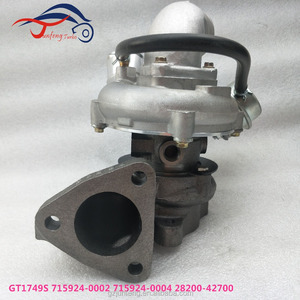 4D56TCI Engine Turbo 715924-5004S 28200-42700 GT1749S for Hyundai Truck Porter with 4D56TCI Engine