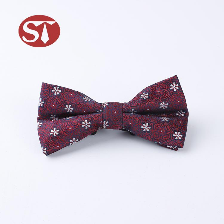 New style personalized customized size 100 polyester bowtie set