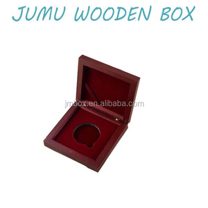 matte lacquer rose wood single coin gift box