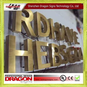 Factory direct letter sign acrylic sign display outdoor sign