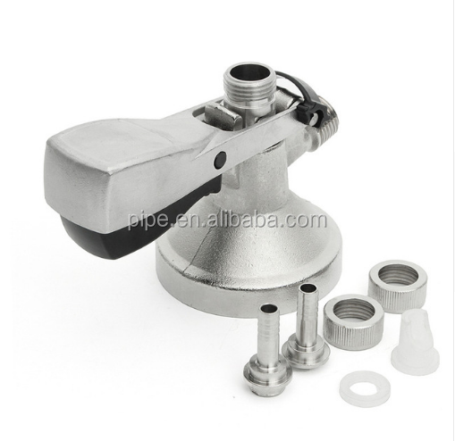 A-type Stainless Steel Keg Coupler Draft Beer Dispenser For Home Brew Connectors Coupler Head For Homebrew Wine Beer Dispenser