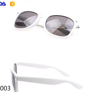 bead65ba5ad wholesale custom white frame many colors frame available cheap plastic PC  party sunglasses for promotional gift