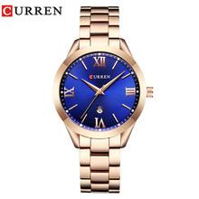 Женские кварцевые часы CURREN, розовое золото 9007(Китай)