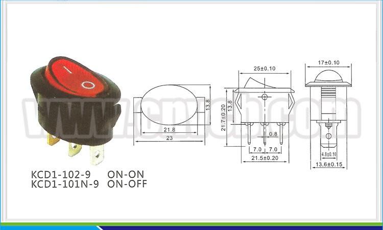 Rs271 3pin 6a  250vac Electrical Equipment Mini Marine