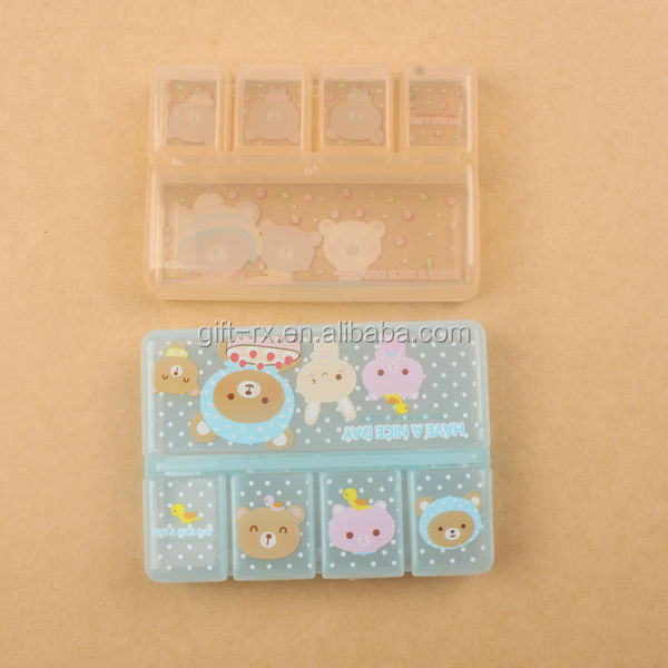 transparent plastic box component pill box