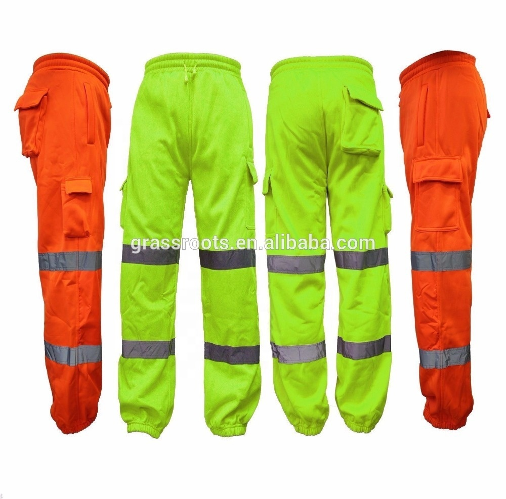 HOT SALE CUSTOM  workwear pant workers  uniforms security reflective workwear with pockets on the sides made in china