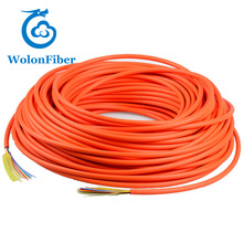 Indoor 2 / 4/ 6 / 8 / 12 core Multi mode GJFJV fiber optical cable 1km price