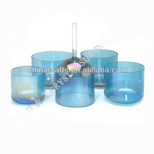 "CCB110 blue Chakara Energy Quartz 11"" Crystal Singing Bowl For Sound Hearing"