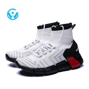 China Hot Sale Man High Quality Stylish Casual High Top Sneakers Men Cool Basketball Shoes