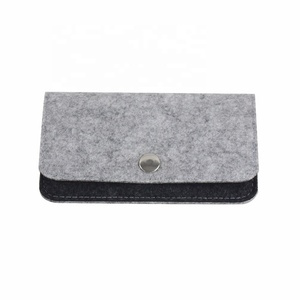 Factory direct snap type compact portable simple fashion felt Wallet