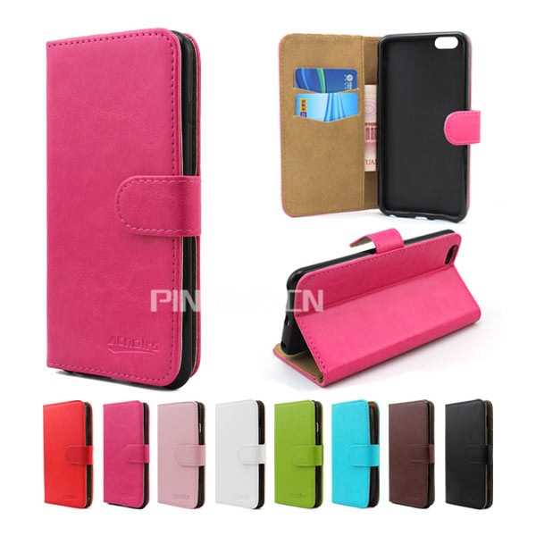 Classic crystal grain leather mobile phone case for ZTE Grand X2, flip wallet case for ZTE Grand X2
