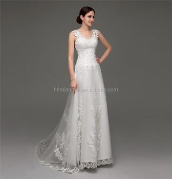 d0343ff30 Sirena vestido de novia sexy ver a través de encaje sin espalda vestido  para una boda