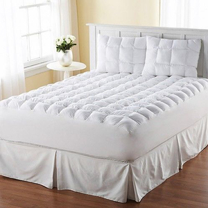 Hypoallergenic Alternative Fiber Down cheap hotel polyester Bed mattress topper