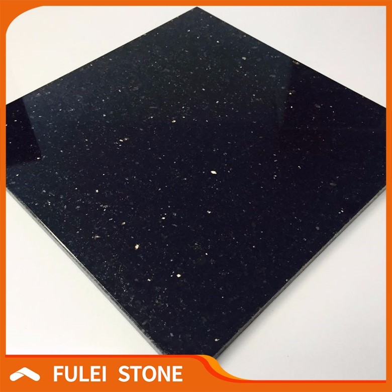 Polished Crystal Black Star Galaxy Granite Floor Tiles 600x600 Buy