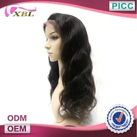 Natural Human Hair Color Double Layers Long Hair Lace Front Wig
