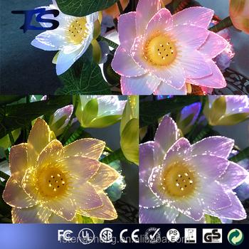 Hot Sale Indoor Decor Artificial Lotus Flower Lamp In Porcelain Vase