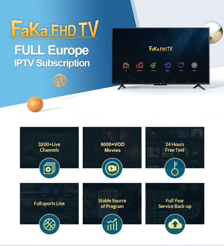 Brazil Channel Android TV Set Top Box 4K X96W with FAKAFHD Global IPTV Code 1 Year European Channels