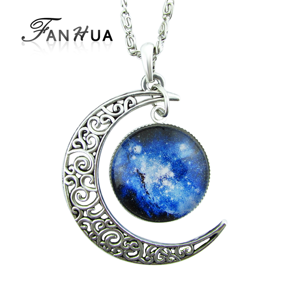 New Coming Cheap Silver Plated Sun And Moon Best Friend Necklace