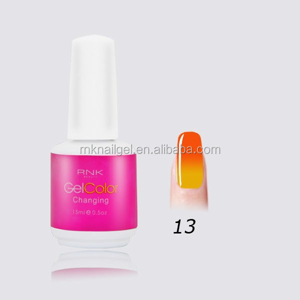 beauty nails RNK color changing gel polish temperature chamelon professional manicure supplies