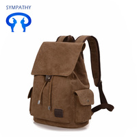 Canvas backpack retro leisure fashion youth backpack British and Korean version of college students backpack