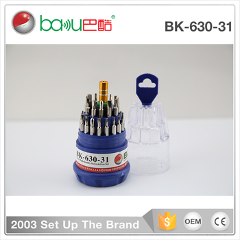 BK-630-31 / BK-631-31stainless steel tips 31 in 1 interchangeable screwdriver set