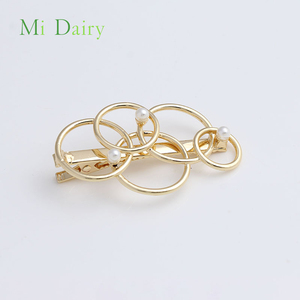 Circular Geometry glaze gold metal Hairpins hair clips accessories for girls women hair snap clip Alligator clips Bobby Pin